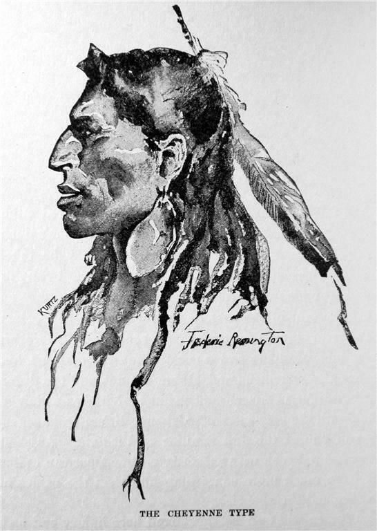 1892 THE CHEYENNE INDIAN BY FREDERIC REMINGTON OKLAHOMA WESTERN HISTORY
