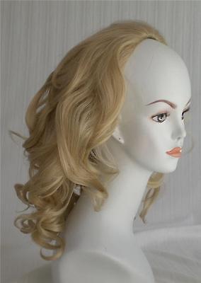 100  Kanekolan Fiber 3 4 Cap Fall Hair Extension Piece Shoulder Length Wavy