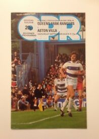 Official QPR Football Programme, Queens Park Rangers v Aston Villa, League Division One 1978/79