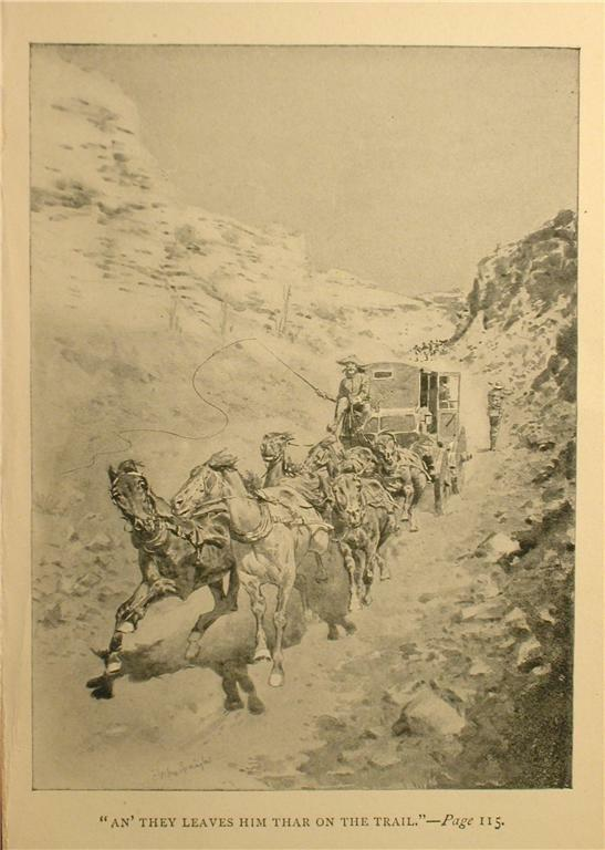 1897 STAGE COACH ROBBERY PRINT BY FREDERIC REMINGTON TEXAS WESTERN HISTORY