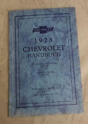 Umkarton 1928 Chevrolet Handbuch Oldtimer