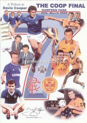 RANGERS FC MOTHERWELL FC 2005 SCOTTISH CUP FINAL DAVIE COOPER SIGNED (PRINTED)