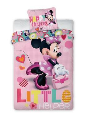 Set Bettwäsche Disney Minnie Maus 100% Baumwolle 160 x 200 cm / 70 x 80cm Neu FO