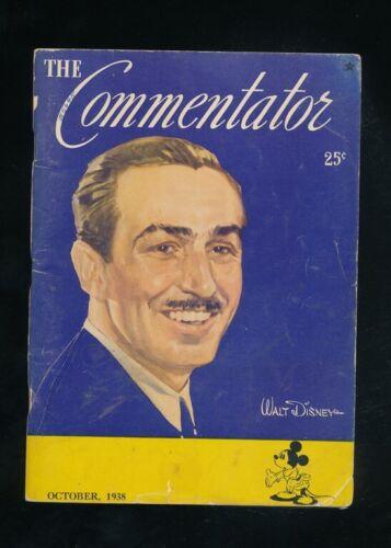 Disneyana-Magazines-COMMENTATOR -October 1938-Walt DisneyCover