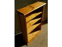 Solid pine book case/ shelf