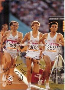 SEBASTIAN-COE-STEVE-OVETT-STEVE-CRAM-1984-LA-OLYMPICS-SIGNED-PRINTED