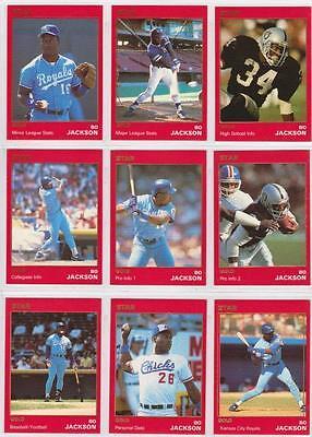 Bo Jackson 1990 Star Company Kansas City Royals 9-card Gold Series Set #/1500 - Party City Stars