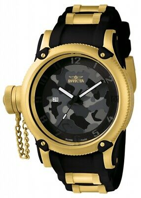 Invicta Men's Watch Russian Diver Lefty Black Camouflage Dial TT Strap 11339