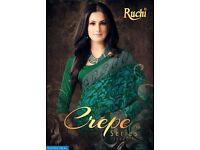 RUCHI CREPE ISSUE-7 WHOLESALE PRINTED ETHNIC SAREE