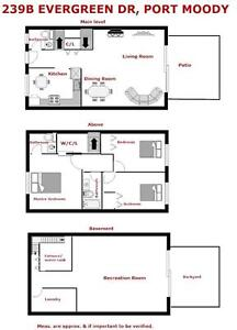 3 level townhouse (1860 sqft) with 3 bedrooms + 3 bathrooms
