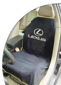 ONE BRAND NEW Universal Black Seat Armour Front Seat Cover Towel For Lexus