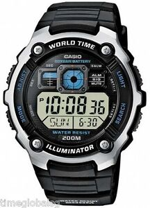 Casio-AE-2000W-1A-Men-Sport-World-Time-Alarm-Water-Resistant-Watch-AE-2000W-1A