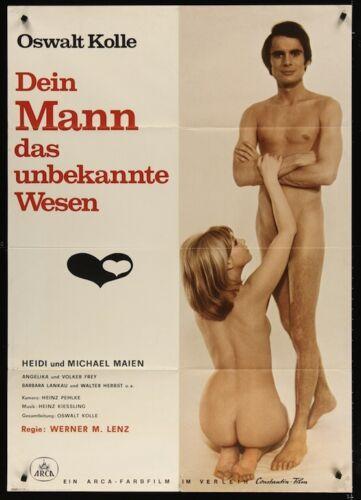 SENSUAL MALE German A0 movie poster 1970 SEXPLOITATION DOCUMENTARY