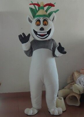 2018 High Quality King Julian Lemur Mascot Costume For Adult  Halloween Party - Julian Halloween
