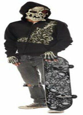 Evil Scary Tony Hawk Skater Bonehead Tween boys Costume Halloween Lg 10-12 C-3](Tony Hawk Halloween)