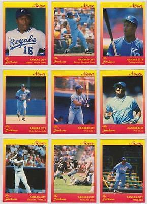 Bo Jackson 1991 Star Company Kansas City Royals 9-card Nova Series BB Set #/500 - Party City Stars