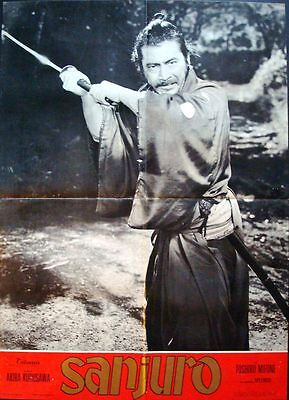 SANJURO Italian 1F Soggettone Silent picture POSTER AKIRA KUROSAWA TOSHIRO MIFUNE. NM