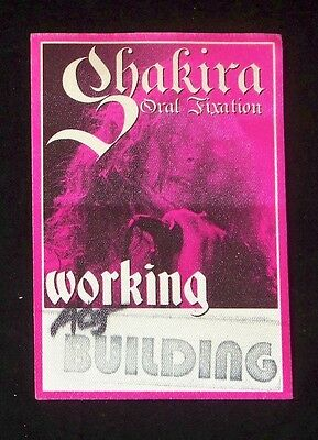 Shakira 2006 Oral Fixation Tour Working Crew Satin Backstage Pass