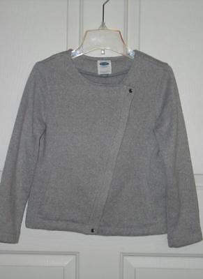 Old Navy moto sweater jacket XL 14 soft fleece inside