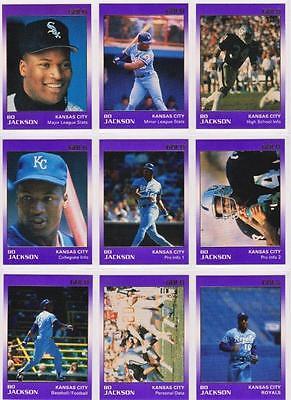 Bo Jackson 1991 Star Company Kansas City Royals 9-card Gold Series Set  #/1500 - Party City Stars