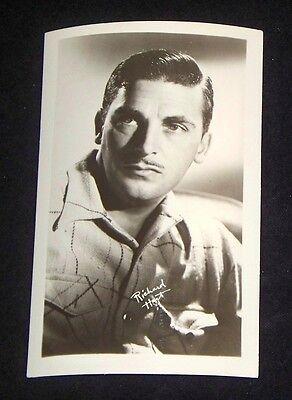 Richard Hart 1940's 1950's Actor's Penny Arcade Photo Card