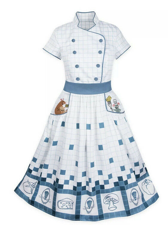 NEW Disney Parks The Dress Shop Remy Emile Ratatouille Chefs Coat Dress Adult 2X