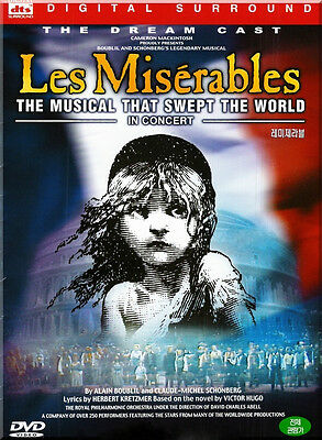Les Miserables  The Dream Cast In Concert  1998  New Sealed Dvd