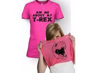Ask me about my t-rex shirt - women