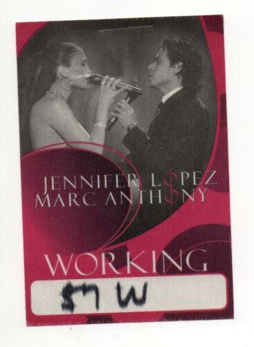 Jennifer Lopez & Marc Anthony 2007 Tour Working Crew Satin Backstage Pass, Red