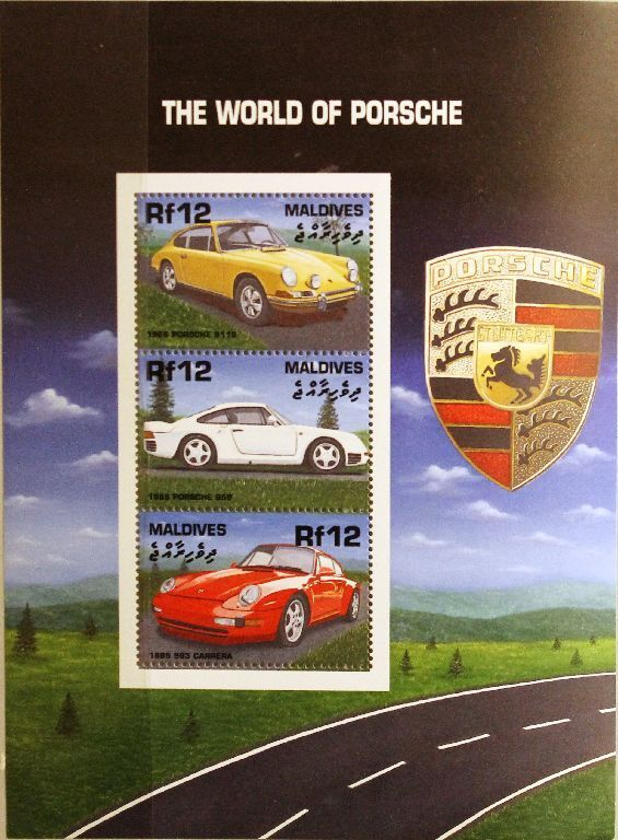 MALDIVES MALEDIVEN 2000 Klb 3670-72 Porsche Automobile Autos Sports Cars MNH