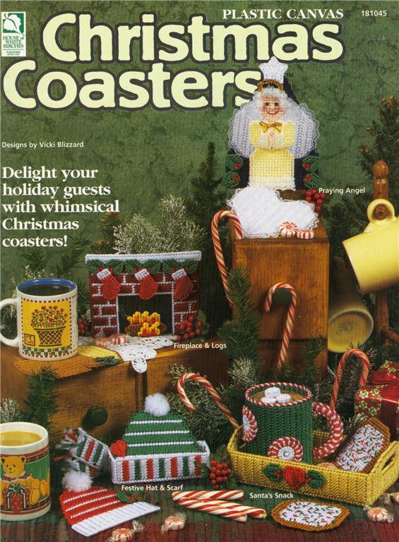 Plastic Canvas Christmas Coaster Patterns.Christmas Craft Collection Plastic Canvas Christmas