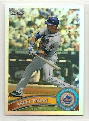 2011 Topps Chrome Refractor    157   Angel Pagan   New York Mets