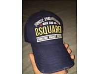 Brand new DSQUARED designer cap D2 with tags navy hat