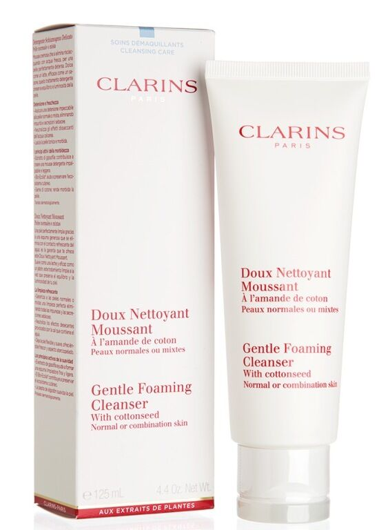 Clarins Gentle Foaming Cleanser with Cottonseed 4.4 oz New in Box
