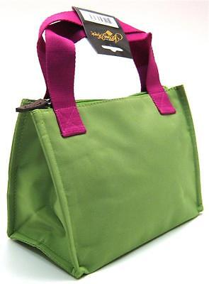Lime Lunch - INSULATED LUNCH BAG ~ Lunch Tote Lime & Fuchsia ~ Medium Lunch Tote ~ New