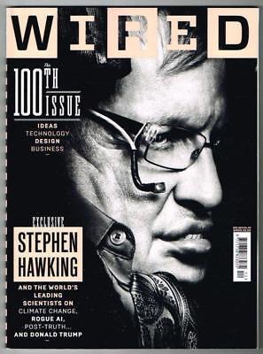 Wired Magazine No.100 December 2017 MBox916 Stephen Hawking - Donald Trump