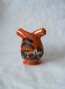 Vintage Salt & Pepper Czechoslovakia Orange Lustreware