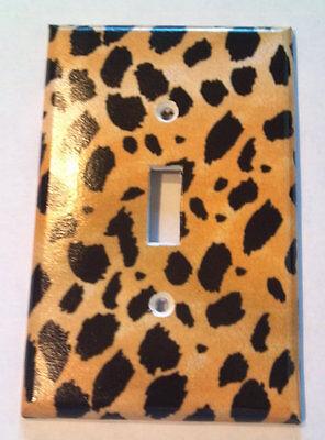 Leopard Cheetah Print Single Light Switch Cover Kitchen Bathroom Wall Decor (Cheetah Print Light Switch Cover)
