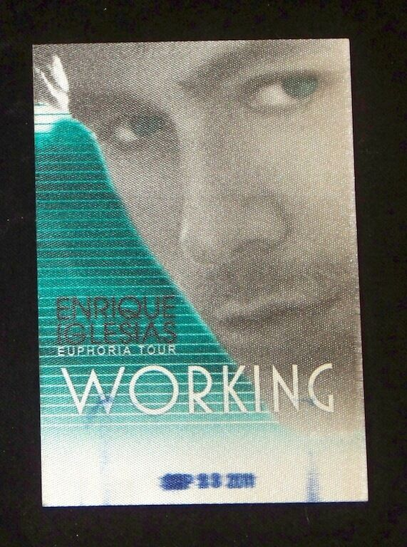 Enrique Iglesias 2011 Euphoria Tour Working Crew Satin Backstage Pass