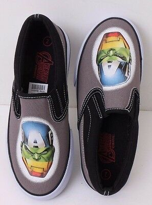 SALE Boys MARVEL Avengers Slip-On Canvas Sneakers Keds Tennis Shoes 5toddler-13