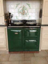 Green Electric Aga cooker Model C 2