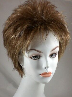 Fun Short Straight Spiky Red/Brown/Black/Blond Wig w/ Bangs Tina Turner - Spiky Blonde Wig