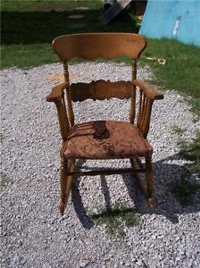 Carved-Quartersawn-Oak-Rocker-Rocking-Chair-print-chenille-seat-R142