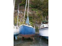 25ft bilge keel yacht