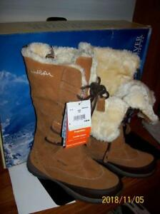 Leather Fleece Lined Ladies Winter Boots Brand New!!