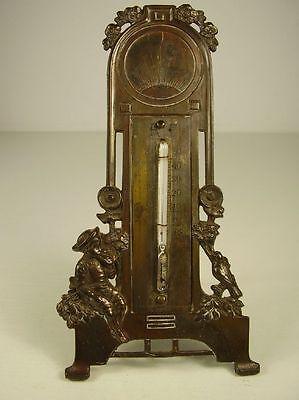 Antikes schönes Jugendstil Tisch Thermometer um 1900