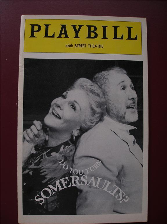 Playbill Do You Turn Somersaults ? Mary Martin Anthony Quayle Opening Night 1978