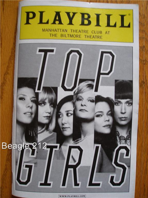 Playbill Top Girls Marisa Tomei  Martha Plimpton Mary Beth Hurt Elizabeth Marvel