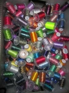 Lot-of-120-Spools-Embroidery-Machine-Thread-STUNNING-COLORS