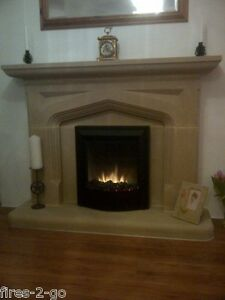 STONE  FERNDALE  TRADITIONAL STONE FIREPLACE / FIRE PLACE SURROUND